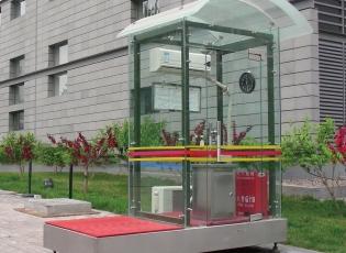 钢化玻璃岗亭